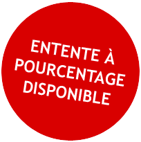 Entente à pourcentage disponible